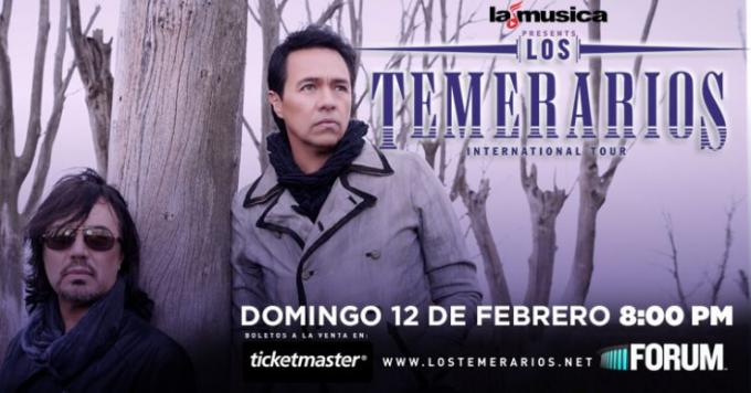 Los Temerarios at The Plaza Theatre Performing Arts Center