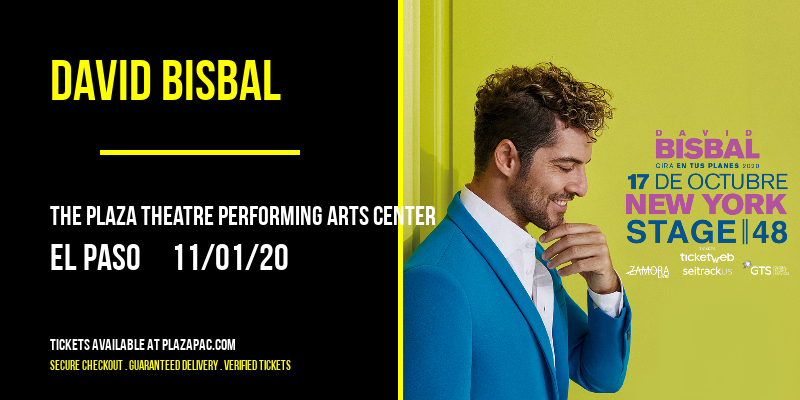 David Bisbal at The Plaza Theatre Performing Arts Center