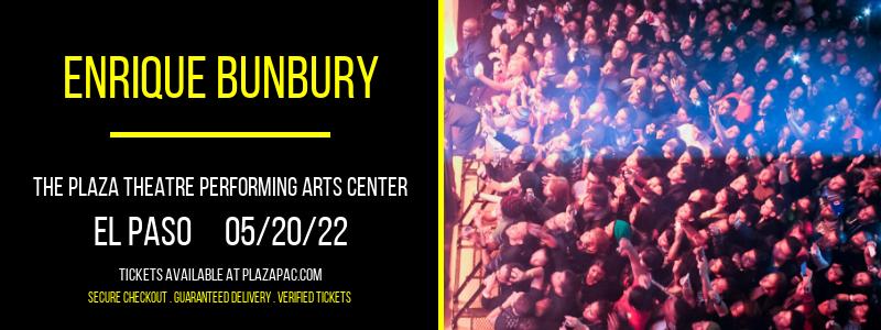 Enrique Bunbury at The Plaza Theatre Performing Arts Center