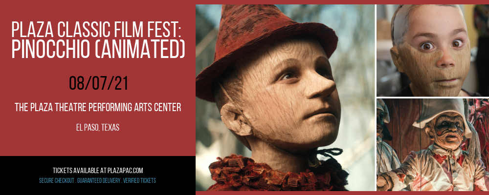 Plaza Classic Film Fest: Pinocchio (Animated) at The Plaza Theatre Performing Arts Center