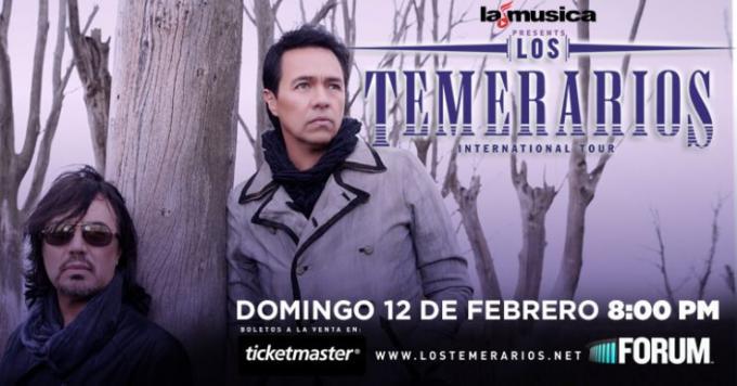 Los Temerarios at The Plaza Theatre Performing Arts Center