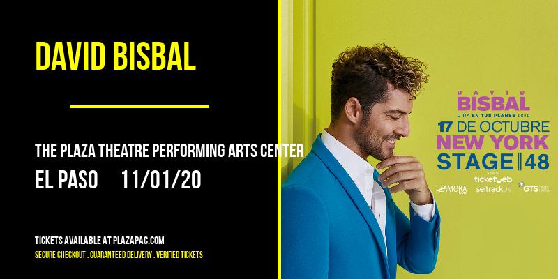 David Bisbal at The Plaza Theatre Performing Arts Center